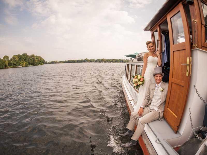 Brautpaar - Heiraten auf dem Schiff
