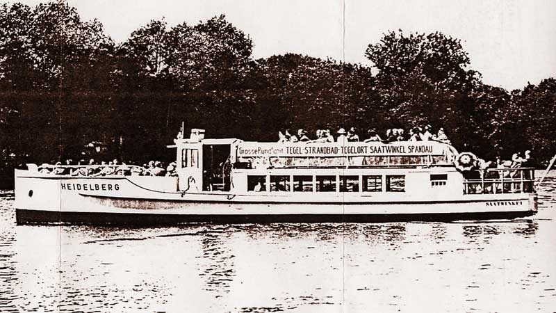 Historisches Foto der MS Heidelberg | Partyboot Berlin
